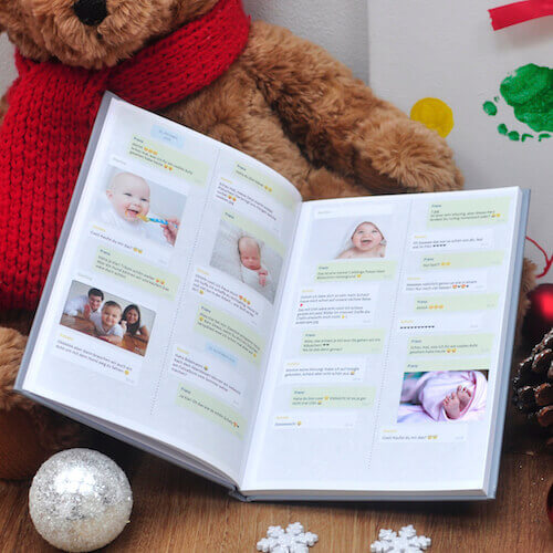 Babybuch WhatsApp Chat Baby drucken