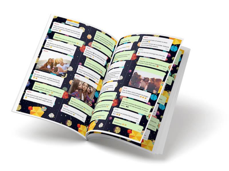 WhatsApp Chat mit Freunde als Buch drucken lassen