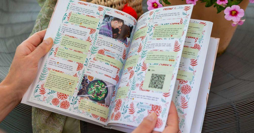 WhatsApp Chat in ein gedrucktes Buch verwandeln mit zapptales
