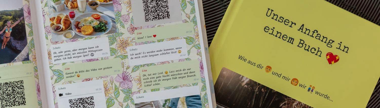 WhatsApp Chat als gedrucktes Buch