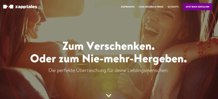 Unsere neue zapptales Website