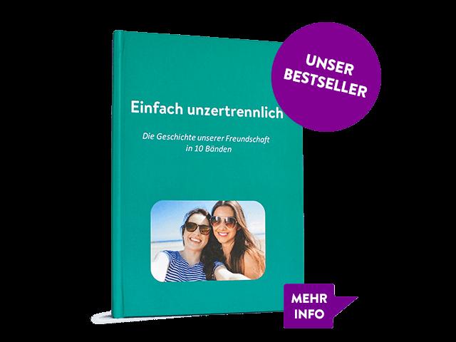 Unser Bestseller ist das WhatsApp Buch als Hardcover. In vielen Farben erhältlich.