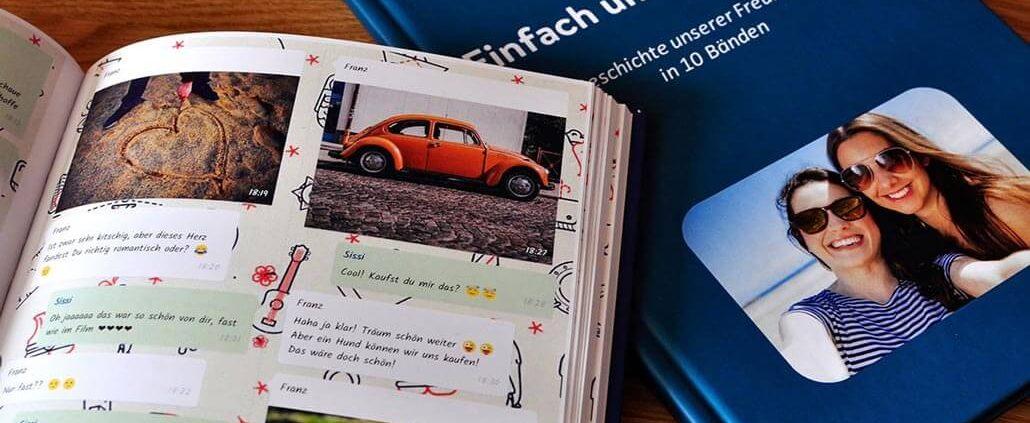 WhatsApp Buch von zapptales mit einem Foto auf dem Cover. Das perfekte Geschenk.