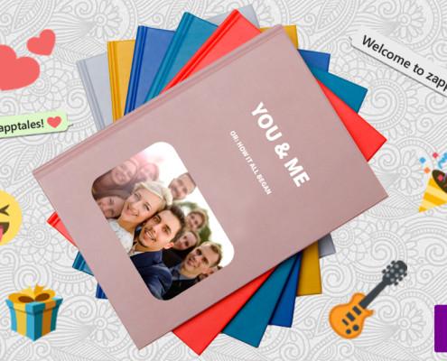 WhatsApp-Buch zur Hochzeit mit Titel Du und Ich