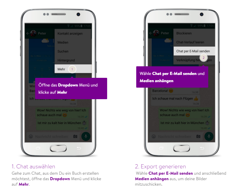 WhatsApp Backup erstellen mit Android