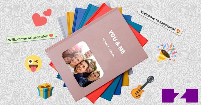 WhatsApp Buch von zapptales zur Hochzeit