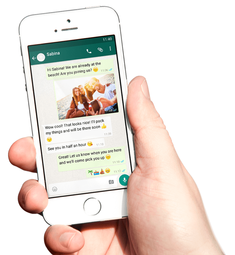 Export your WhatsApp chat from your Smartphone to start creating a unique book