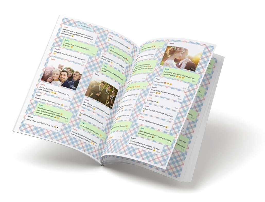 zapptales WhatsApp Buch als Hochzeitsgeschenk