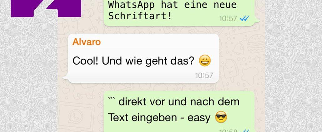 Das ist die neue WhatsApp Schriftart