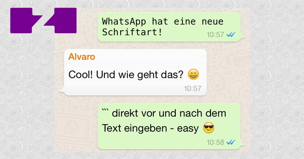 Neue Whatsapp Schriftart Einstellen So Gehts Für Iphone
