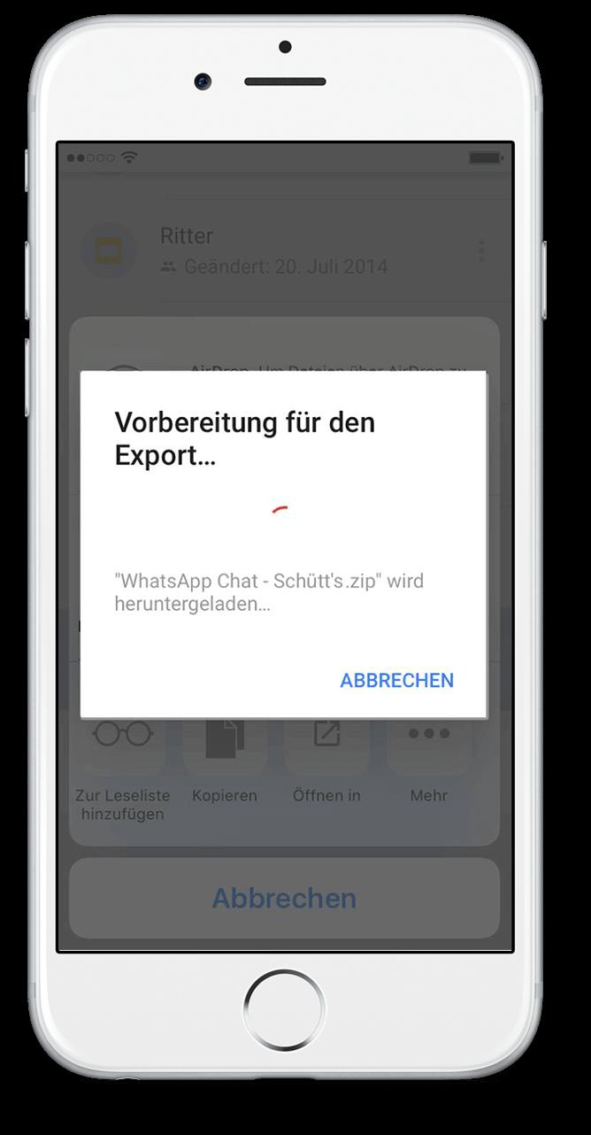 WhatsApp Chat Export mit Google Drive Scritt 11