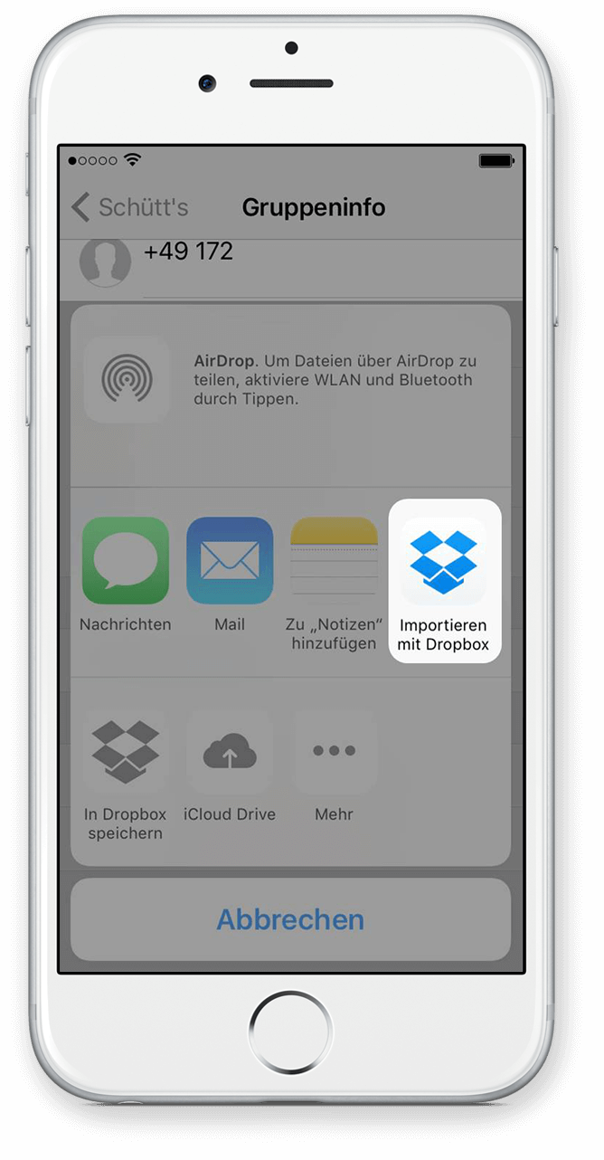 Export WhatsApp Chat via Dropbox 5