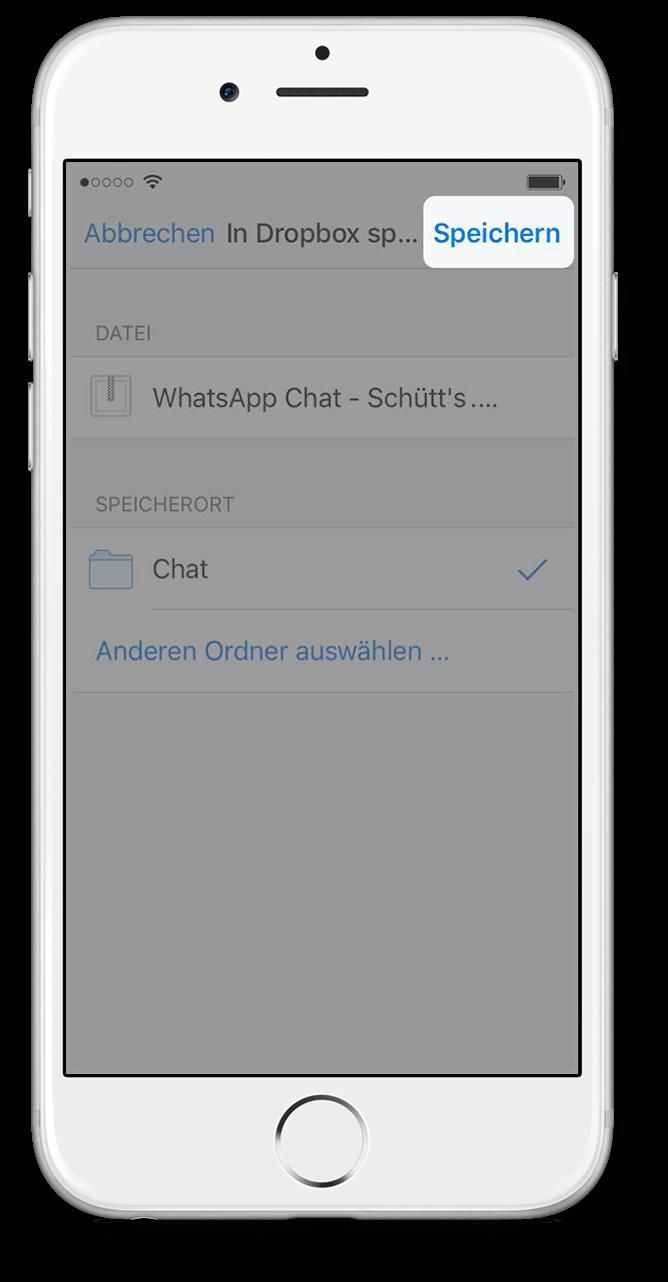 Export WhatsApp Chat via Dropbox 6