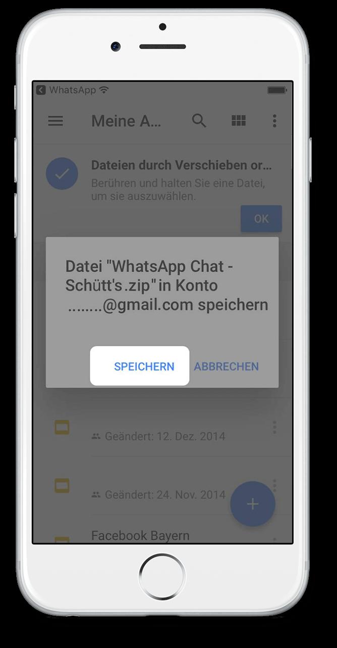 WhatsApp Chat Export mit Google Drive Scritt 6