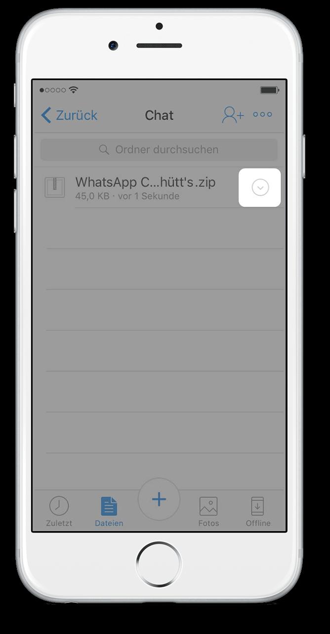 Export WhatsApp Chat via Dropbox 7