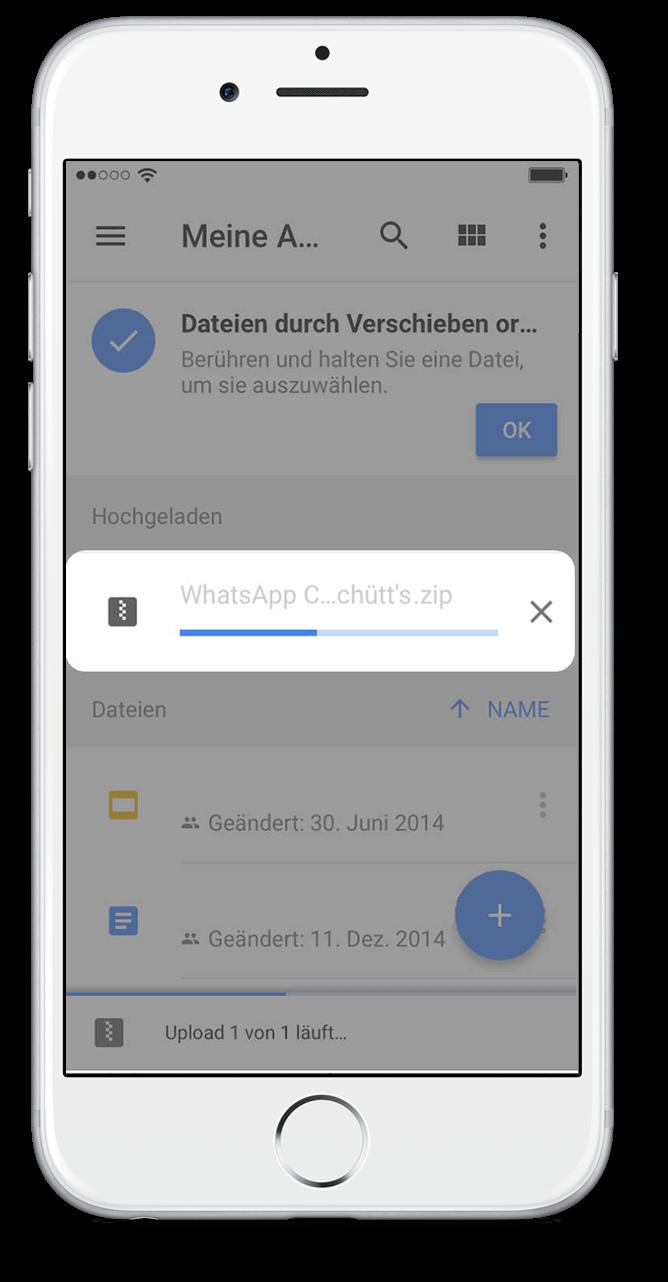 WhatsApp Chat Export mit Google Drive Scritt 7