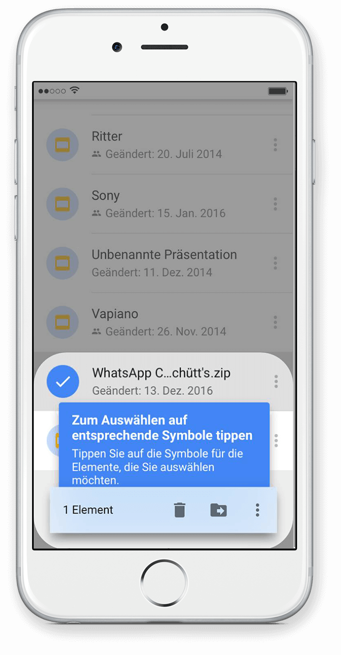 WhatsApp Chat Export mit Google Drive Scritt 8