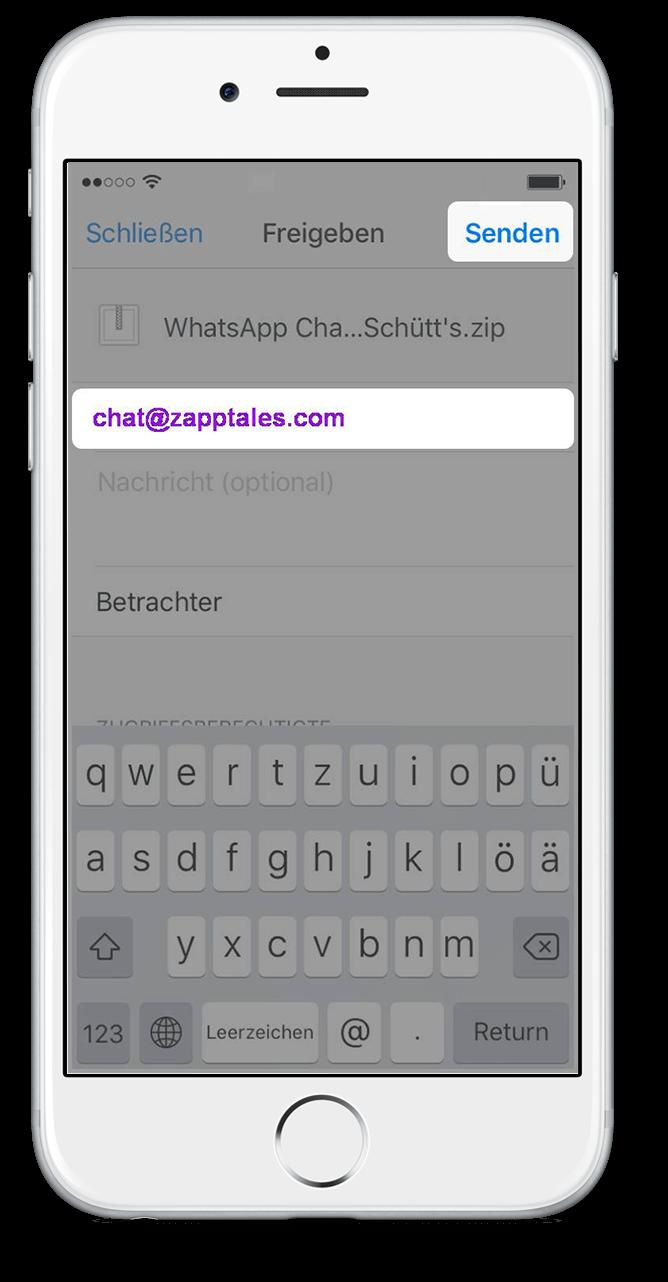 Export WhatsApp Chat via Dropbox 9