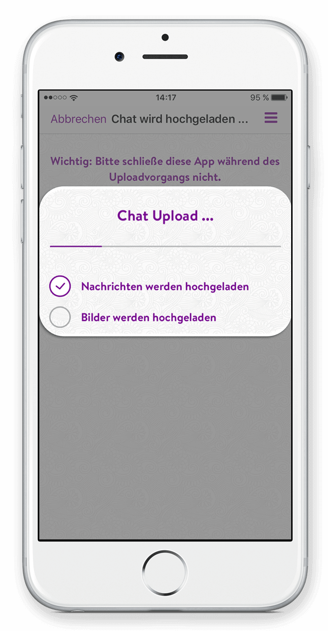 WhatsApp Chat hochladen