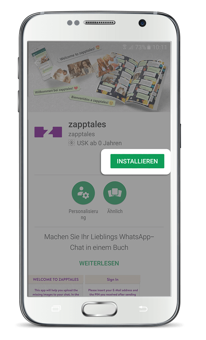 zapptales Chat Export Android App 1