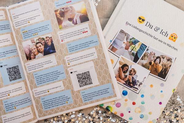 Facebook Messenger Chat als Buch ausdrucken bei zapptales