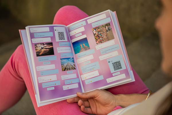 Facebook Messenger chat turned into a personal book with zapptales