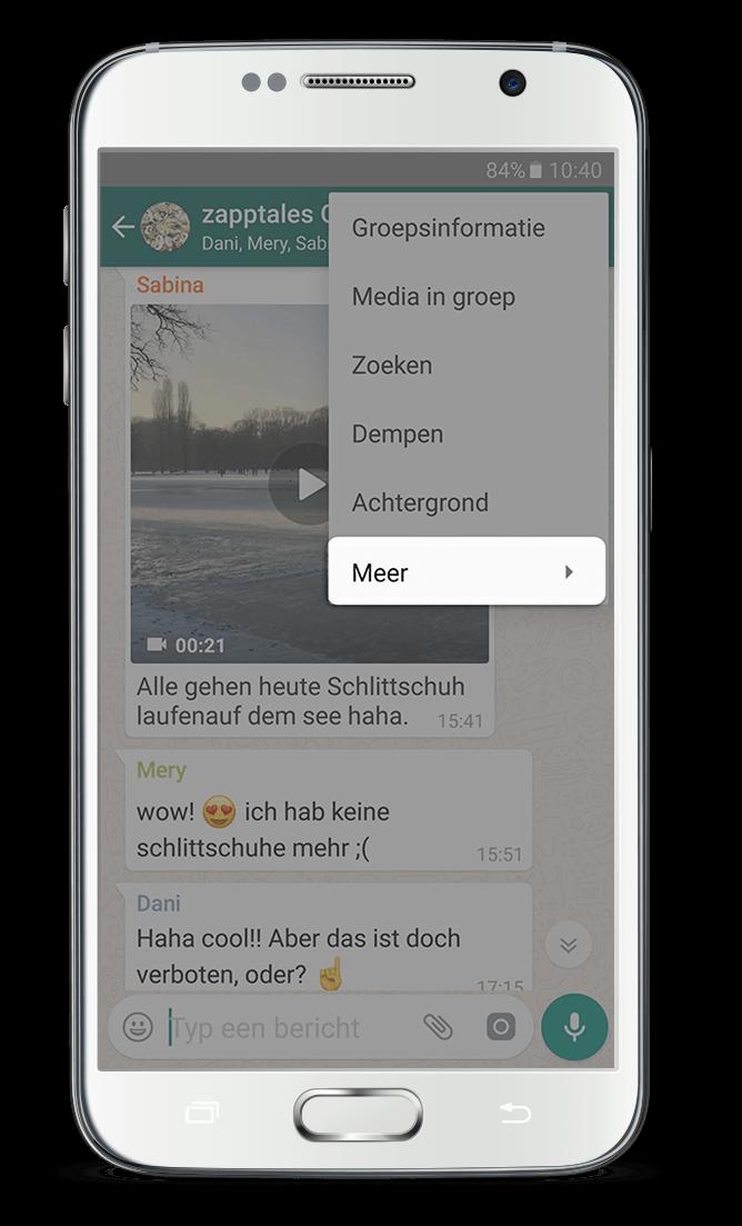 WhatsApp Boek Android