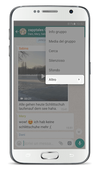 WhatsApp Libro Android App Passo 1