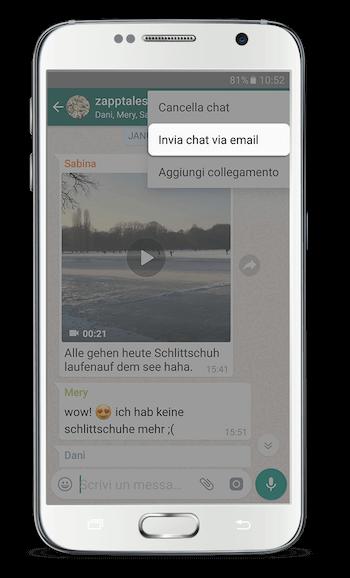 WhatsApp Libro Android App Passo 2
