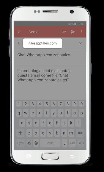 WhatsApp Libro Android App Passo 4