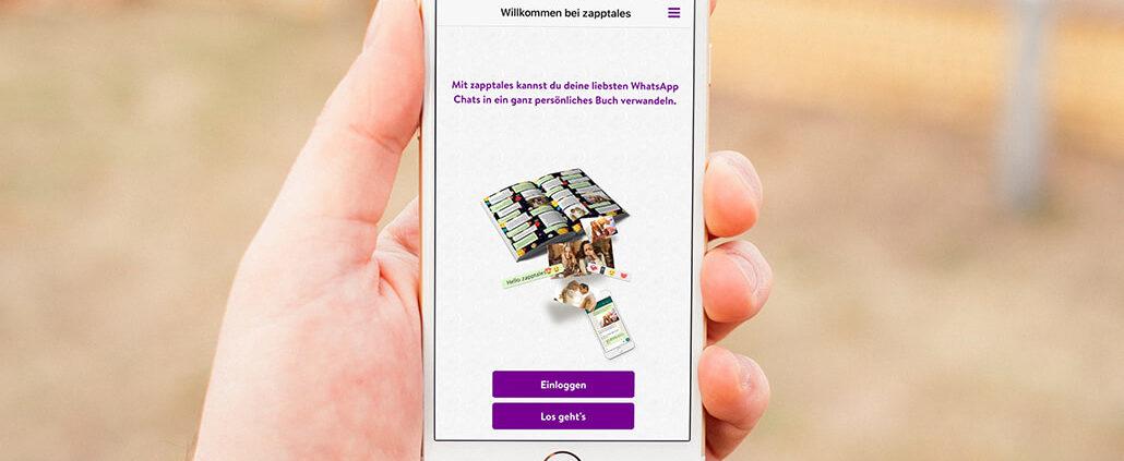 WhatsApp Chat exportieren mit der zapptales iOS App