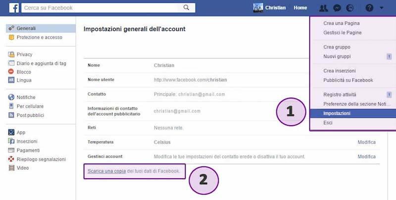 Passo 1 Libro Facebook Messenger