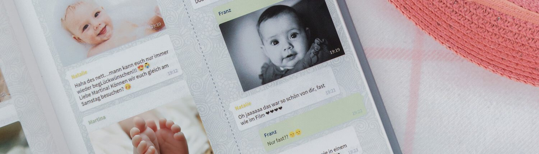 Baby WhatsApp Chat als Buch drucken lassen