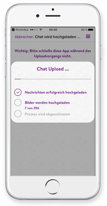 Iphone Chat Export App Schritt 3