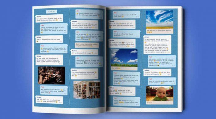 Facebook Messenger Chat als zapptales Buch drucken