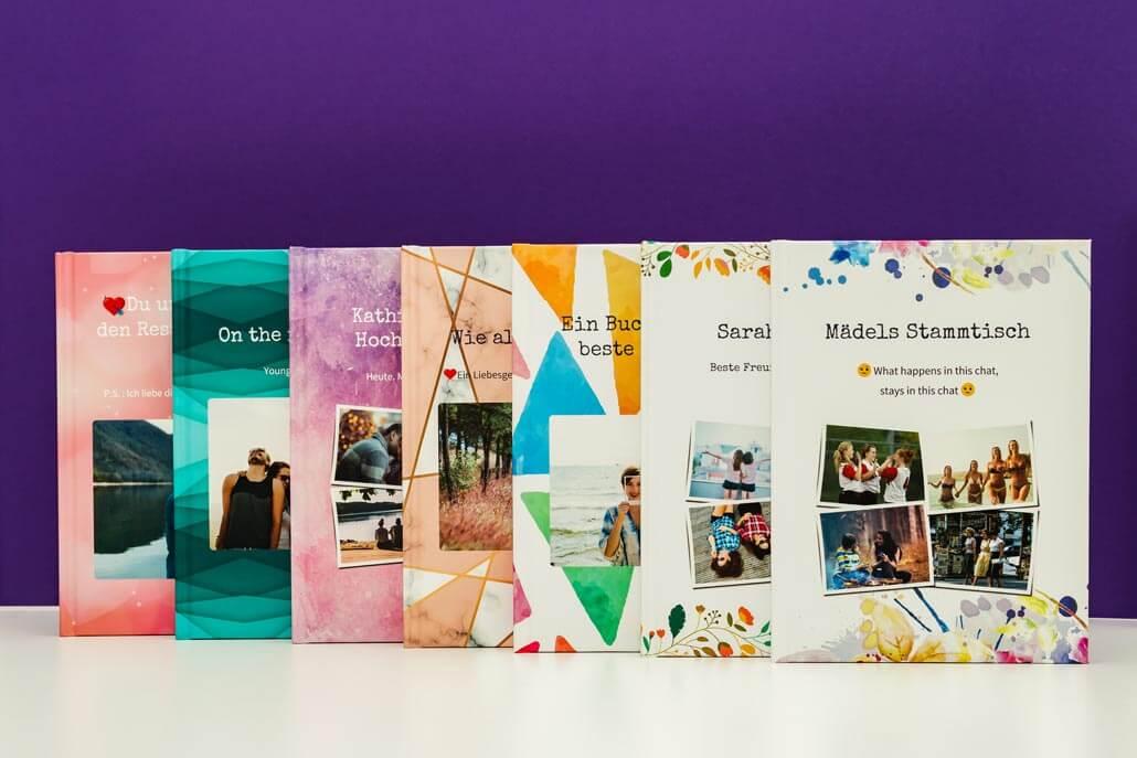 Mehrere zapptales Bücher mit verschiedenen Muster-Covern