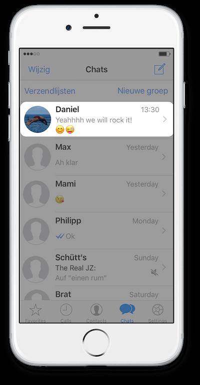 Exporteer WhatsApp Chat vanuit iCloud Stap 1