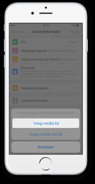 Exporteer WhatsApp Chat vanuit iCloud Stap 4