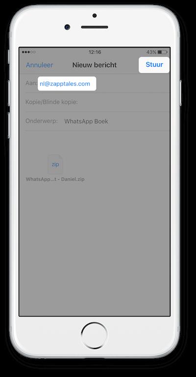 Exporteer WhatsApp Chat vanuit iCloud Stap 6