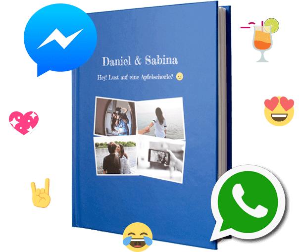 Anleitung WhatsApp Verlauf als Buch
