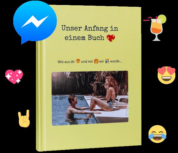 Deinen Facebook Messenger Chat als Buch drucken mit zapptales - Einfach, sicher und individuell