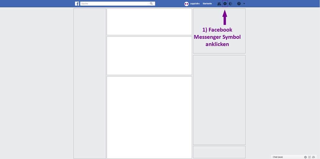 Facebook Nachrichten löschen - 1 Schritt auf Desktop