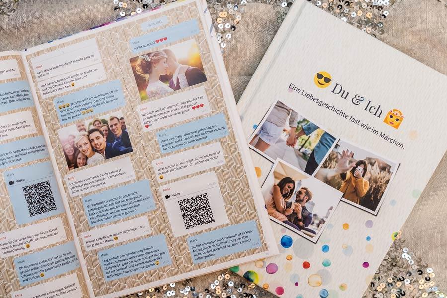 Facebook Messenger Chat drucken als Buch oder PDF mit zapptales