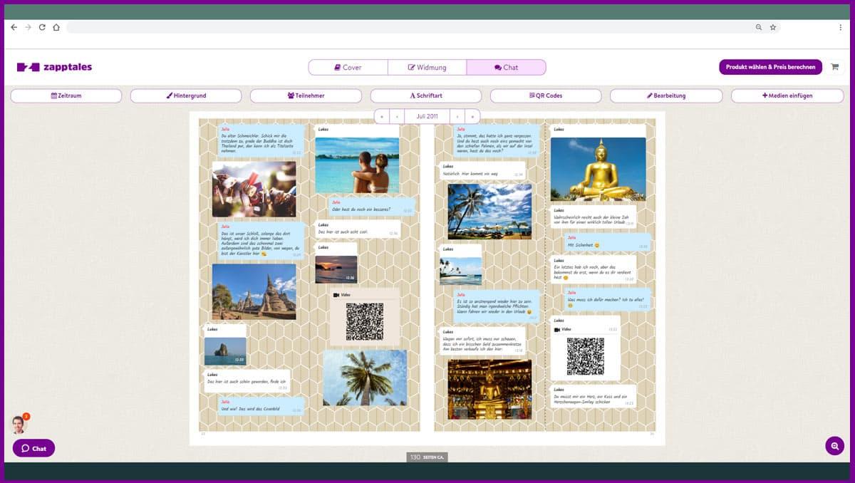zapptales Chatbearbeitung auf dem Desktop