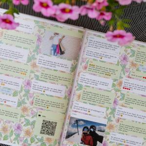 zapptales Chatbuch Hintergrund lila Blumen