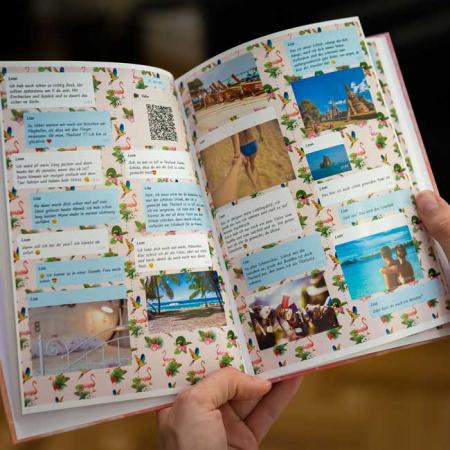 zapptales Chatbuch Hintergrund Flamingos