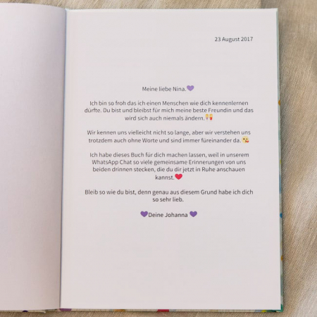zapptales Chatbuch Widmung Freundinnen