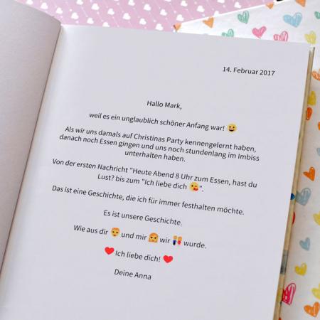 zapptales Chatbuch Widmung Liebe