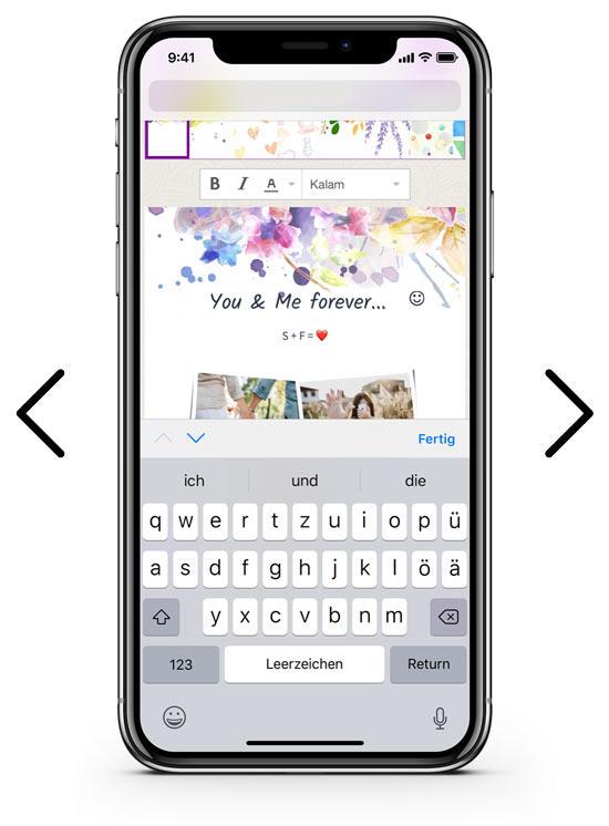 zapptales Titel auf dem Cover schreiben mobile