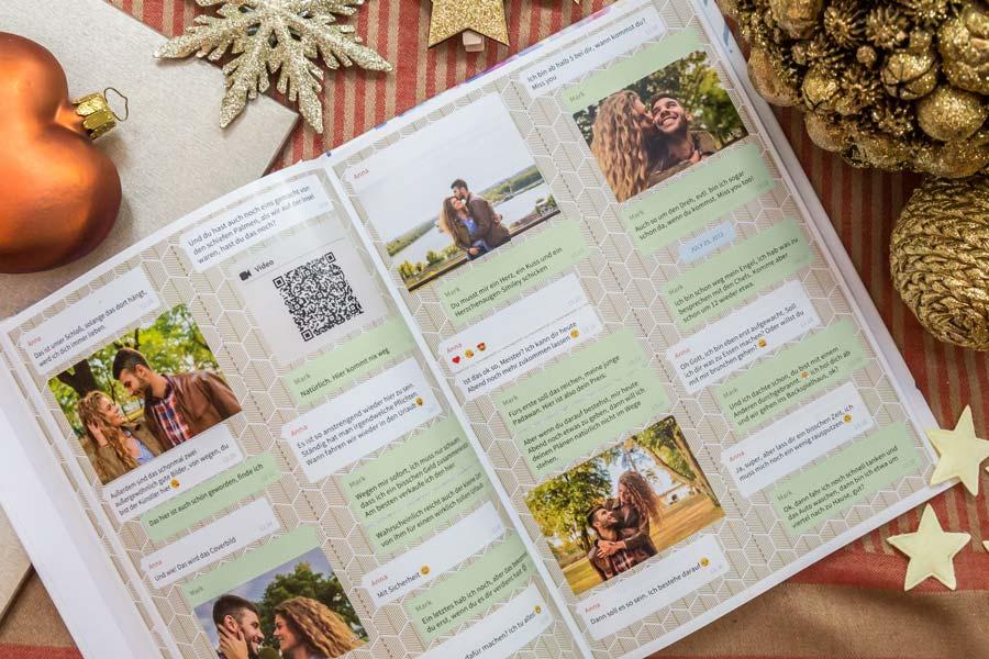 WhatsApp Chat als Buch drucken mit Sprachnachrichten und Videos